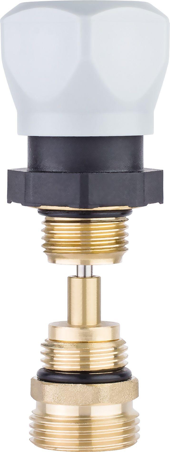 Клапан регулировочный коллекторный с переходным ниппелем (комплект) фото
