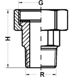 Соединение для насосов, НР, чугун фото 2
